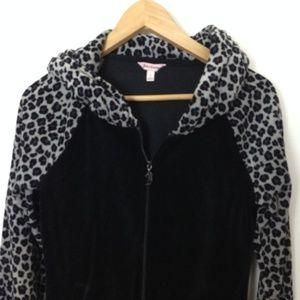 Juicy Couture Black S Women Full Zip Hoodie Jacket